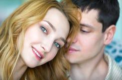 Портрет парня и девушки совместно Стоковые Фотографии RF