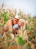 Портрет пар влюбленности Стоковое Изображение