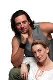 портрет пар официально изолированный Стоковое Изображение