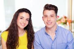 Портрет пар подростка Стоковая Фотография