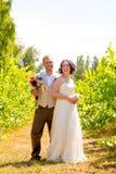 Портрет пар свадьбы виноградника Стоковые Изображения RF