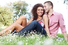портрет пар счастливый стоковое изображение rf