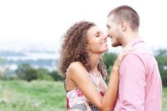 портрет пар счастливый Стоковые Изображения