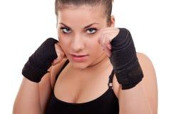 портрет перчаток девушки Стоковая Фотография RF