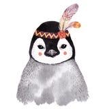 Портрет пингвина акварели, Стоковые Изображения RF