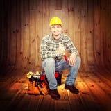 Портрет плотника Стоковое Изображение RF