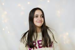 Портрет подростка в студии Стоковое Изображение RF