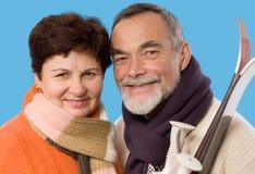 портрет пожилых людей пар стоковое изображение