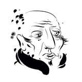 Портрет пожилого джентльмена Стоковое фото RF