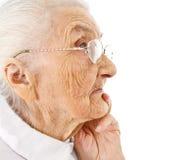 Старый портрет ladys Стоковое Изображение RF