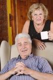 Портрет пожилых пар Стоковая Фотография