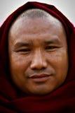 Портрет подвижника на виске Mahabodhi в Bodh Gaya, Индии Стоковое Изображение