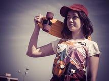 Портрет подростка в бейсболе Стоковое Фото