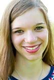 Портрет подростка с расчалками Стоковое фото RF