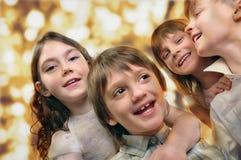 Портрет праздника счастливых детей  Стоковое Изображение RF