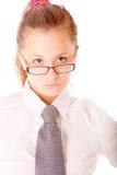 Портрет прелестно молодой женщины Стоковое Фото
