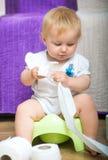 Портрет прелестного младенца стоковое изображение