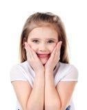 Портрет прелестной счастливой изолированной маленькой девочки Стоковое Изображение RF