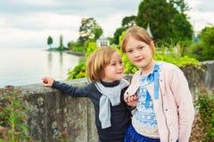 Портрет прелестных детей Стоковая Фотография