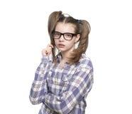Портрет предназначенной для подростков девушки в рубашке шотландки Стоковое Изображение