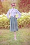Портрет привлекательной молодой женщины Стоковые Изображения RF