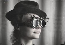 Портрет привлекательной девушки steampunk Стоковая Фотография RF