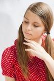 Портрет привлекательной маленькой девочки Стоковое Изображение RF