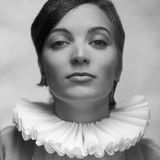 Портрет принцессы винтажной алы французский красивого брюнет Стоковое Фото