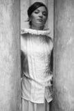 Портрет принцессы винтажной алы французский красивого брюнет Стоковое Изображение RF