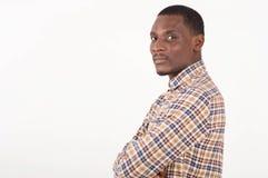 Портрет профиля красивого славного человека в официальной рубашке стоковое фото rf