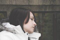 Портрет профиля молодой женщины Стоковая Фотография RF