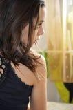 Портрет профиля красивой женщины Стоковая Фотография RF