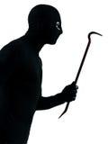 Портрет пушки удерживания террориста похитителя уголовный Стоковые Изображения