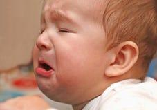 Портрет плакать младенца Стоковая Фотография