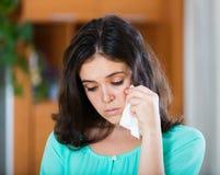 Портрет плача женщины Стоковое Изображение RF
