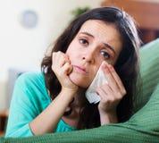 Портрет плача женщины Стоковое фото RF