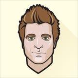 Портрет плоского человека дизайна иллюстрация штока