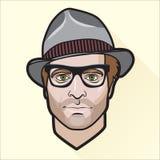 Портрет плоского человека дизайна иллюстрация вектора