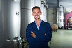Портрет работника винодельни молодого человека Стоковые Фотографии RF