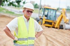 Портрет работника менеджера строительной площадки стоковые изображения