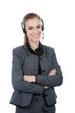 Портрет работника обслуживания клиента женщины Стоковая Фотография RF
