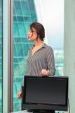 Портрет работника офиса девушки Стоковое Фото