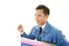 Портрет работника стоковая фотография rf