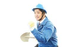 Портрет работника стоковое изображение
