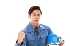 Портрет работника стоковые изображения rf