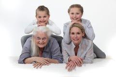 Портрет различных поколений Стоковая Фотография