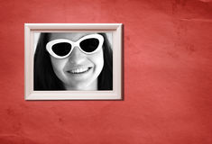 портрет рамки ретро Стоковые Изображения