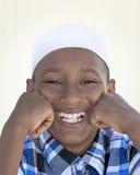 Портрет радостного мусульманского мальчика, 10 лет Стоковые Фото