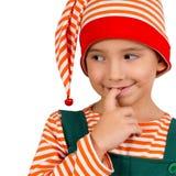 Портрет ребенка в костюме эльфа Стоковые Изображения RF