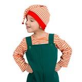 Портрет ребенка в костюме эльфа Стоковое Изображение RF
